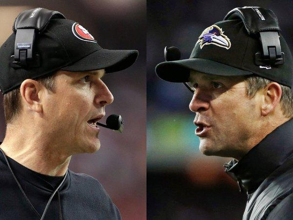 Coaching brothers Jim Harbaugh, John Harbaugh