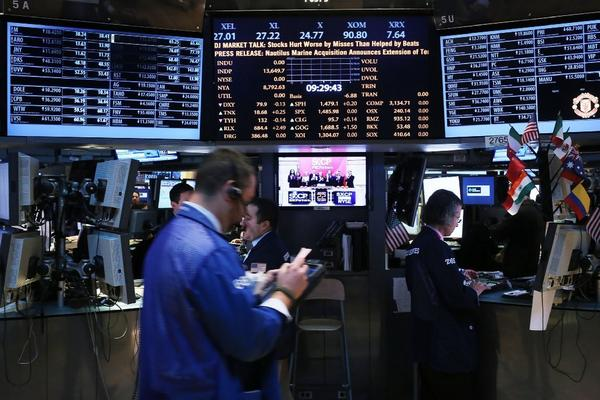 Traders on the floor of the New York Stock Exchange on Tuesday.