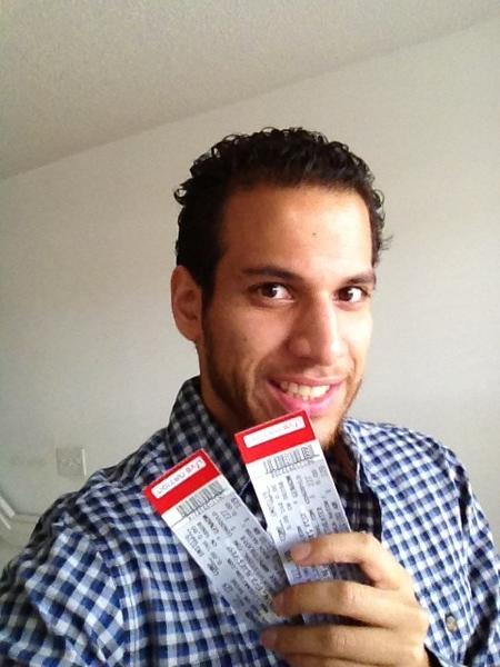 Congratulations to Gonzalo. He won two tickets to the Sunshine Blues Festival