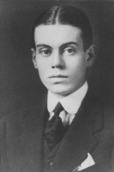 ole Porter's graduation picture from Yale University in 1913