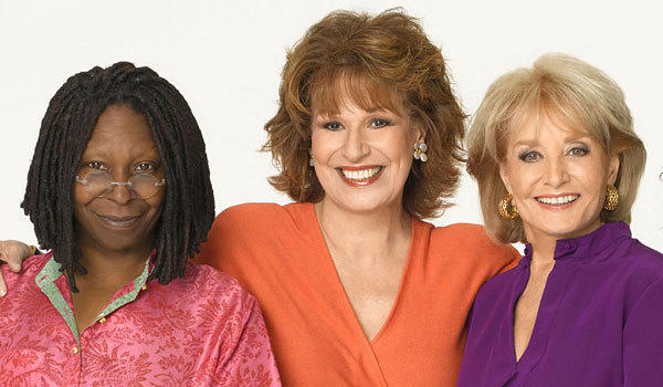 "From left, Whoopi Goldberg, Joy Behar and Barbara Walters of ""The View."""