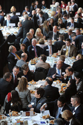 The Lehigh Valley Economic Outlook Luncheon & Community Development Awards is held at ArtsQuest Center at SteelStacks on Tuesday.