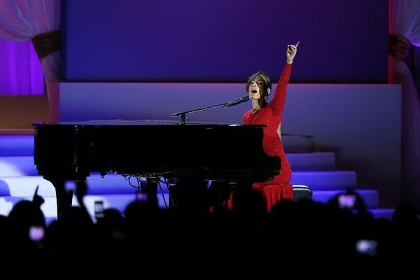Alicia Keys performs at the Public Inaugural Ball in Washington, D.C., on Jan. 21, 2013.