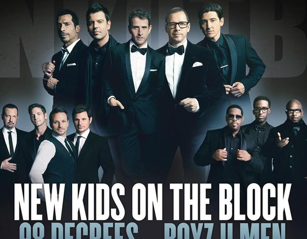 The Package Tour, which features '90s era boy bands New Kids on the Block, 98 Degrees and Boyz II Men, will hit Staples Center on July 5.