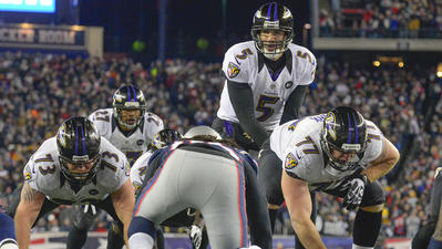 Pass protection has been key in Ravens' Super run