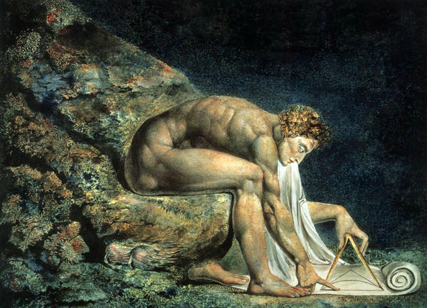 "An example of art by William Blake: His 1795 painting ""Newton,"" from Mordechai Feingold's book ""The Newtonian Moment."""