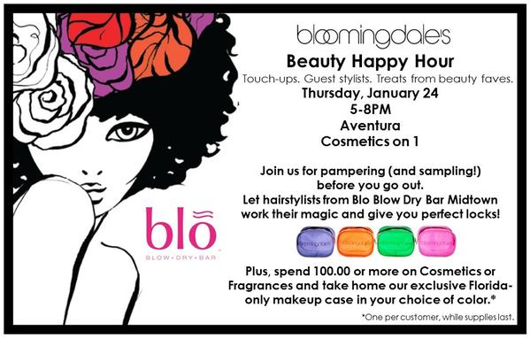 Blo Blow Dry Bar Midtown and Bloomingdales Aventura team up for Beauty Happy Hour