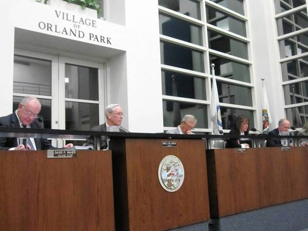 Orland Park village officials consider a request from Police Chief Tim McCarthy to make an annual ammunition purchase earlier than normal because demand and prices are increasing.