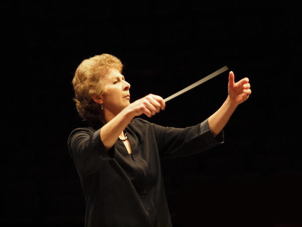 Acclaimed British conductor Jane Glover has been Music of the Baroque's music director since 2002.