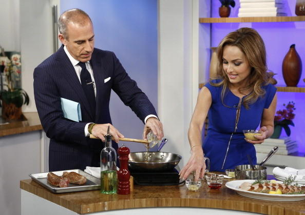 Matt Lauer and Giada de Laurentiis appear on NBC News' 'Today'