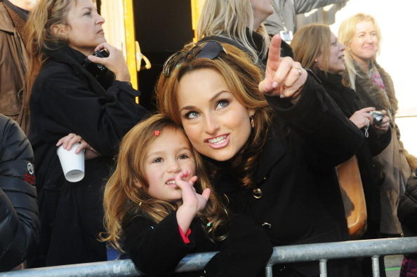 Giada De Laurentiis and daughter Jade attend 86th Annual Macy's Thanksgiving Day Parade on November 22, 2012 in New York City.
