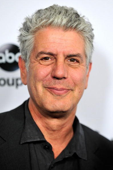 Television personality Anthony Bourdain arrives at Disney ABC Television's red carpet gala at the Langham Huntington Hotel and Spa on January 10, 2013 in Pasadena, California.