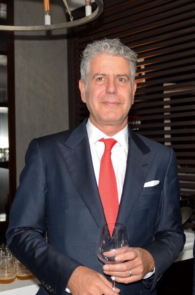 Anthony Bourdain attends 'A Night to Rebuild Emilia Romagna' Fundraiser Event at The Parlor on October 23, 2012 in New York City.