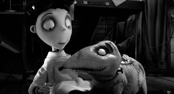 "The animated movie ""Frankenweenie"" debuted at No. 1 on the DVD sales chart."