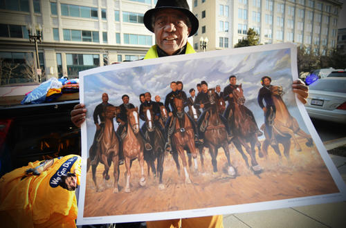 Famous African-American leaders riding horses together? Check.