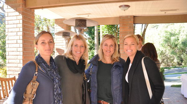 Annemike Rogers, Krista Shaw, Linda Schmidt and Stacie Shonfeld attend the recent PTA Coffee Break meeting at Aliso Creek Inn & Golf Course. Meike Lemmens spoke about the model of communication between parents and children.