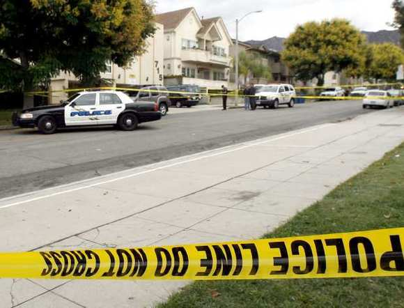 Burbank police investigates the death of a man on the 700 block of E. Providencia in Burbank on Friday morning, Oct. 12, 2012.
