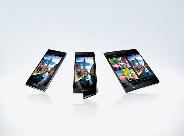 The NEC Medias W is a dual-screen smartphone slated for a mid April release in Japan.
