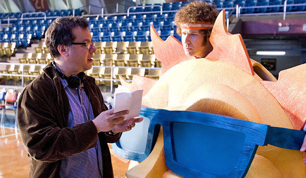 "Kent Alterman, left, and Will Ferrell on the set of ""Semi-Pro."""