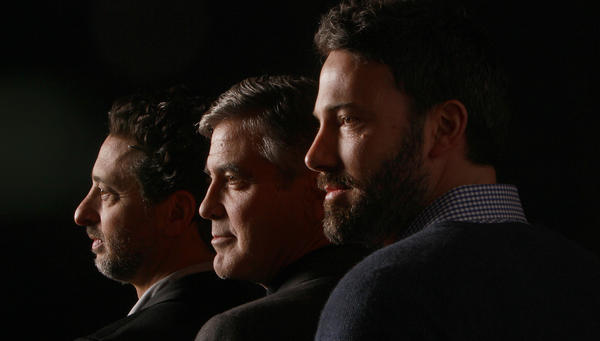"""Argo"" producers Grant Heslov, George Clooney and producer-director-star Ben Affleck."