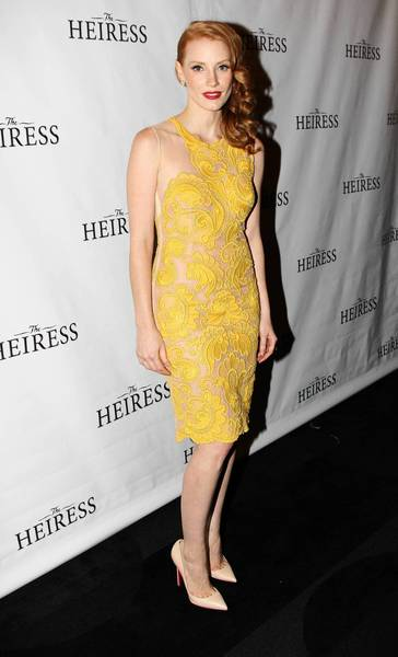 "Jessica Chastain attends the opening night after-party for the revival of ""The Heiress"" on Broadway last November."