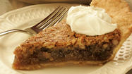 Walnut and raisin pie