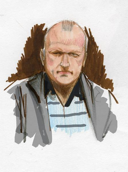 David Coleman Headley appears in a courtroom sketch made during the 2011 trial of Tahawwur Rana, a Chicago doctor and businessman convicted of aiding Pakistani terrorist organization Lakshar-e-Taiba.