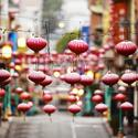 Colorful red Japanese lanterns