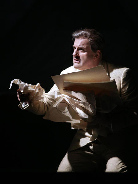 "Christopher Purves as Walt Disney in the Philip Glass opera ""The Perfect American."""