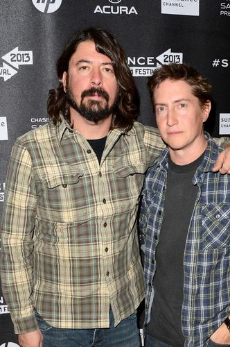 Dave Grohl and David Gordon Green at the Cinema Cafe.