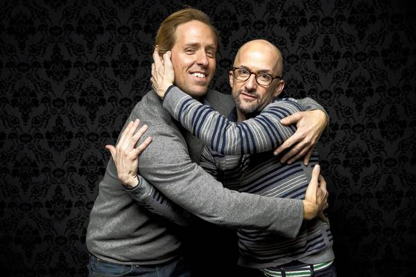 "Nat Faxon, left and Jim Rash are co-writers and directors of the movie ""The Way, Way Back"""