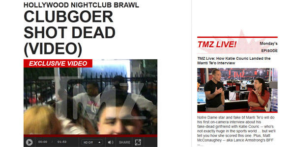 Gossip site TMZ trimmed provocative footage of a teen shot outside a Hollywood nightclub after family members launched an online petition and urged brands to pull ads.