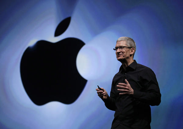 Apple Chief Executive Tim Cook speaks following the introduction of the iPhone 5 in San Francisco.