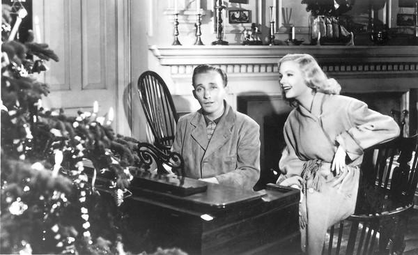 "Bing Crosby and Marjorie Reynolds in the Christmas classic, ""Holiday Inn."""