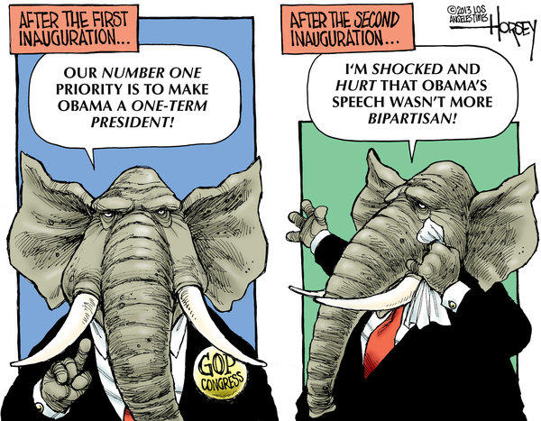 After four years of partisanship, Republicans complain that Obama is not bipartisan