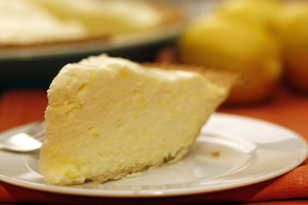 "This light, bright lemon pie is adapted from ""American Regional Cooking"" by Sheila Hibben. <a href=""http://www.latimes.com/features/food/thanksgiving/la-fo-classicrec18e-2009nov18,0,2744587.story"">Click here for the recipe.</a>"