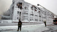 Warehouse fire hot spots