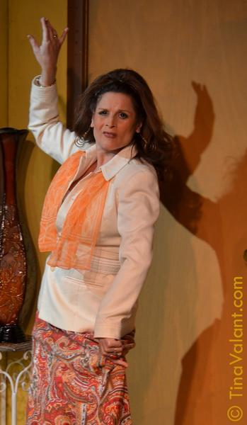 "Kim Cozort as Faye in Neil Simon's ""Chapter Two"" at Plaza Theatre in Manlapan."