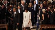 "Designer Jason Wu was almost as surprised as everyone else that First Lady Michelle Obama  once again chose one of his gowns for an inaugural ball. She wore a white one-shoulder gown he designed to her husband's first inauguration in 2009, and a ruby red Wu gown to the second inaugural ball on Monday. Wu says the White House didn't tell him until the last minute that his was the winning gown. ""I'm floating,"" he was quoted as saying. <a href=""http://www.nytimes.com/2013/01/22/us/first-lady-and-fashion-are-no-longer-so-combustible.html?hpw&_r=0"">[New York Times]</a>"