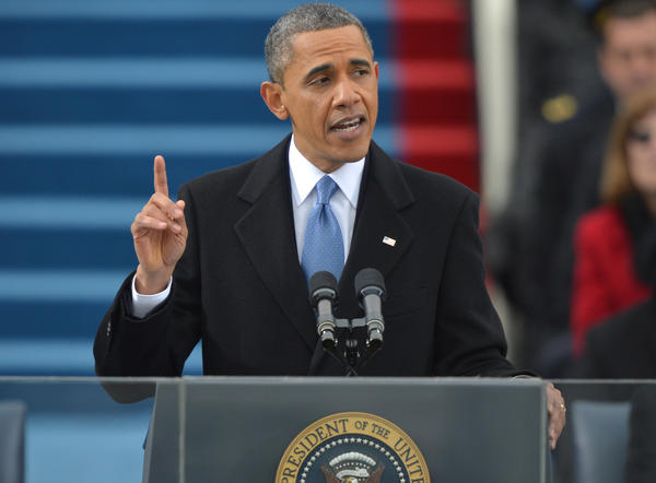 President Barack Obama delivers his second inaugural address after taking the oath of office at the U.S. Capitol on Jan. 21.