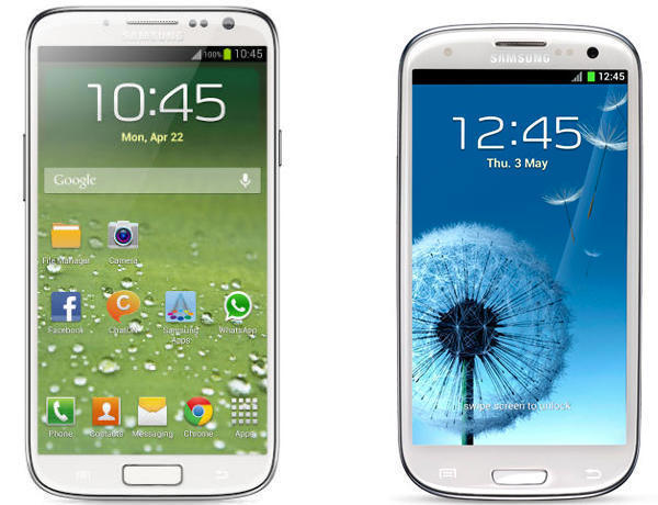 An image found on Picasa appears to show the Galaxy S IV, left, next to the Galaxy S III.
