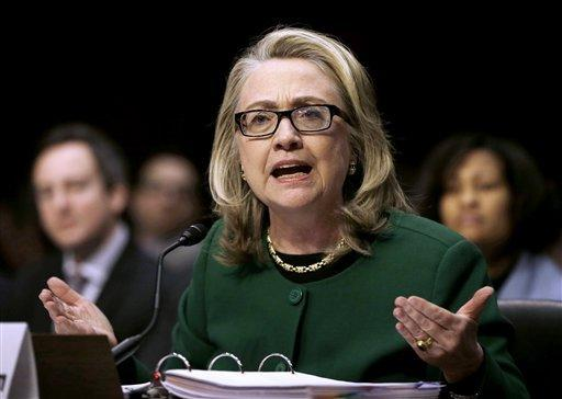 Secretary of State Hillary Rodham Clinton testifies Wednesdaybefore the Senate Foreign Relations Committee hearing on the deadly September 2012 attack on the U.S. diplomatic mission in Benghazi, Libya, that killed Ambassador Chris Stevens and three other Americans.
