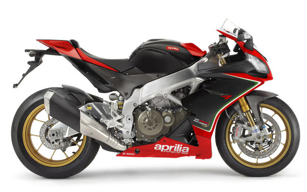 Aprilia's RSV4 Factory APRC features anti-lock brakes, traction and wheelie controls, improved ergonomics and increased fuel capacity.