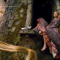 "Singer Taylor Swift portrays Rapunzel from ""Tangled."""