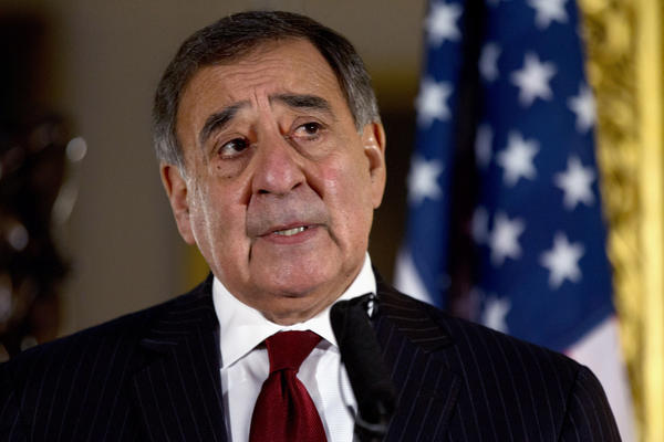 This Jan. 19 file photo shows Defense Secretary Leon Panetta speaking during a news conference in London. Panetta has removed the U.S. military ban on women in combat, opening thousands of front line positions.