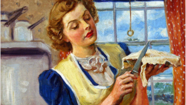 "This painting, ""Apple Pie,"" by James Montgomery Flagg, is one of the works at a new exhibit ""Paintings by American Illustrators from the Sanford Low Collection at the New Britain Museum of American Art,"" which will open at the Central Connecticut State University Art Galleries on Thursday, Jan. 24."