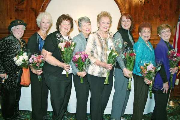 New officers for the Glendale Community College Patrons Club are, from left, Margaret Hammond, Pat Beggs, Judy Gorham, Shirley Wright, Geri Costello, Marianne Jennings, Betty Musacco and President Carolyn Payne.