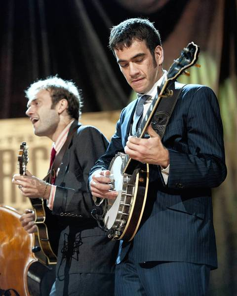 Chris Thiele and Noam Pikelny of Punch Brothers perform at the 2012 Americana Awards & Honors Show in Nashville, Tenn.