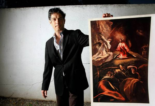 David de Csepel with a copy of an El Greco work his great-grandfather possessed.