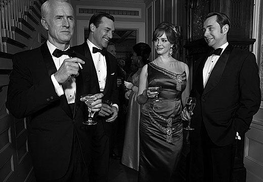 John Slattery, Jon Hamm, Christina Hendricks and Vincent Kartheiser
